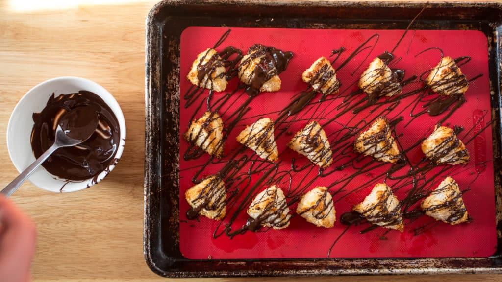 Passover chocolate macaroon pyramids