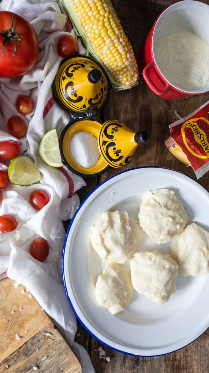 Authentic Colombian cheese arepas