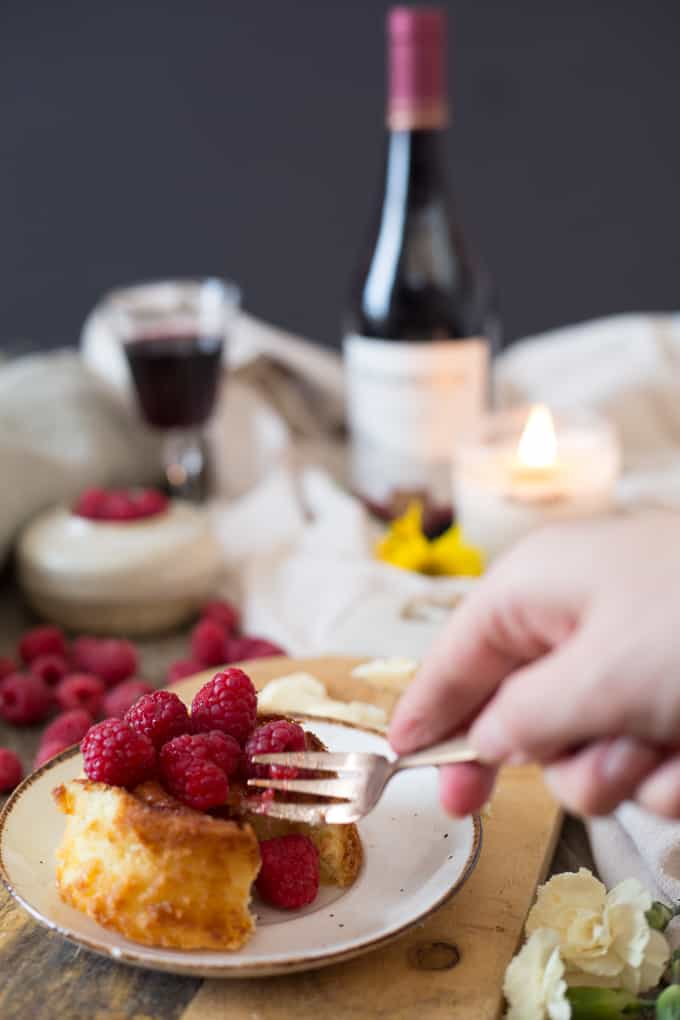 Gluten-free white chocolate lava cakes with raspberries and my winter self-care guide