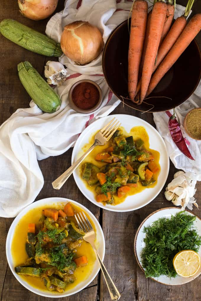 Winter dilly carrot and zucchini curry