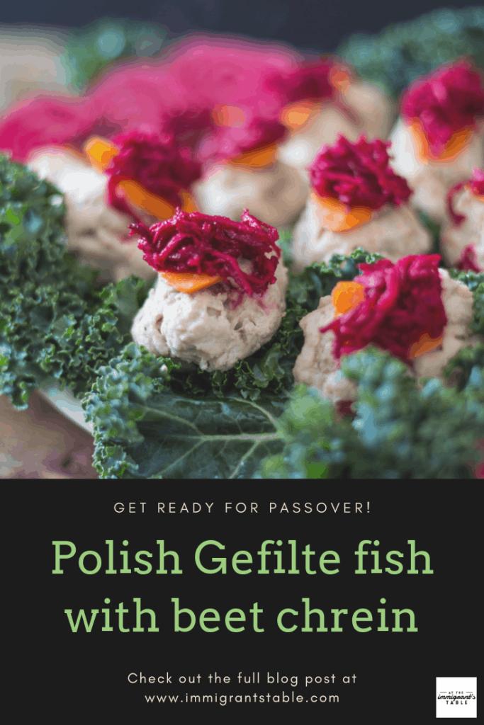 Authentic Polish gefilte fish with chrein