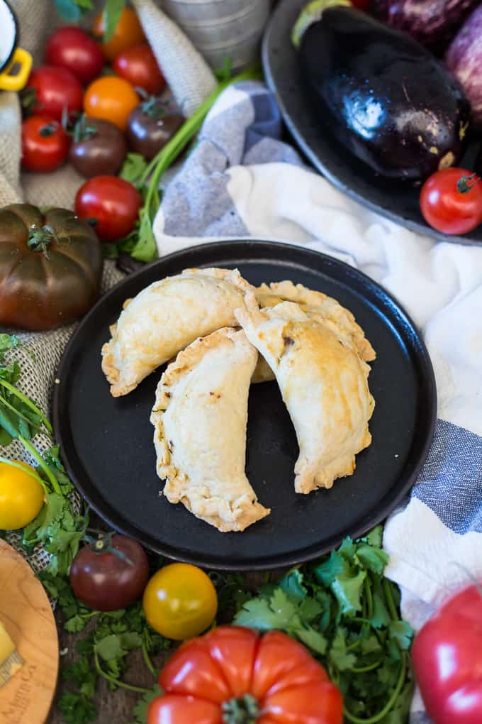 Learn the recipe for how to make Homemade Balkan bourekas with eggplant, tomato, Jarlsberg and feta cheese