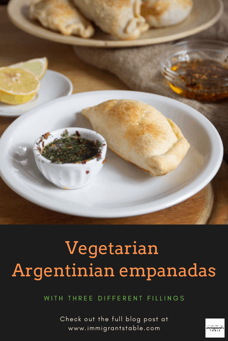 empanada with chimichurri