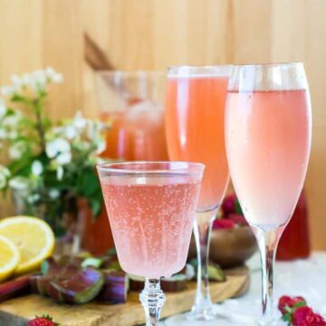 Strawberry rhubarb gin fizz, and a GIVEAWAY of The Prairie Table cookbook {GIVEAWAY}