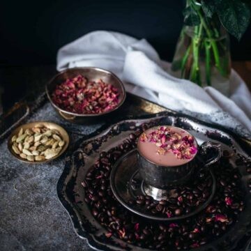 Beetroot Middle Eastern cardamom rose latte