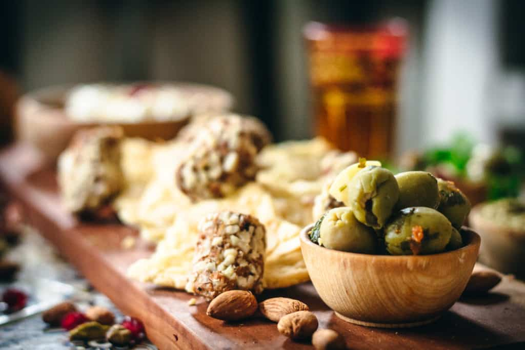 Date Rolls and Lavosh Crackers and olives
