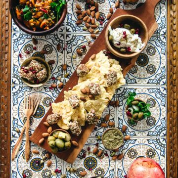 How to Make the Ultimate Middle Eastern appetizer platter with our best mezze recipes {V, GF, Paleo}