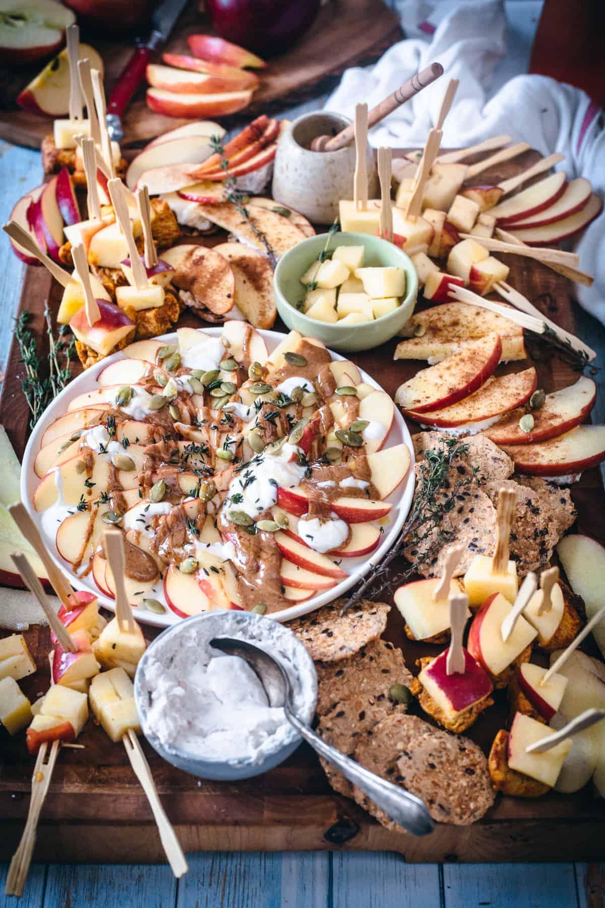 apple appetizer platter