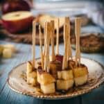 cheddar apple skewers