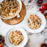 two plates of pasta