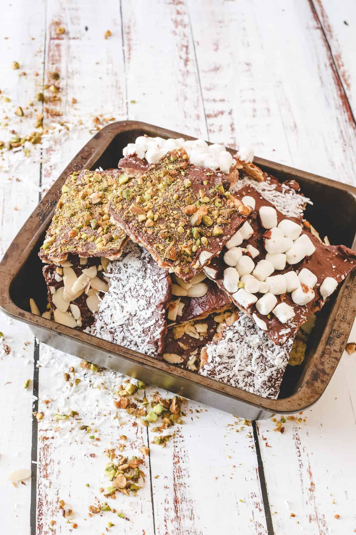 matzo crack in baking tin