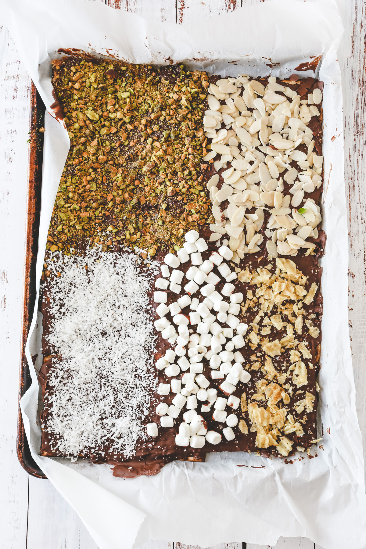 matzo crack with toppings
