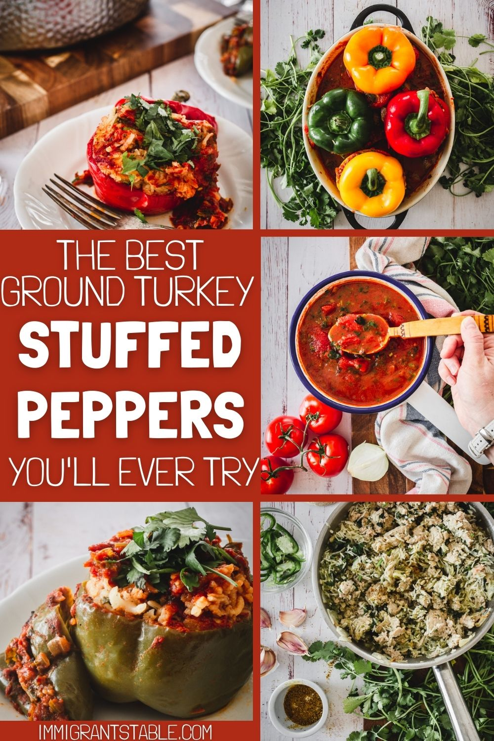 the best ground turkey stuffed peppers you'll ever try