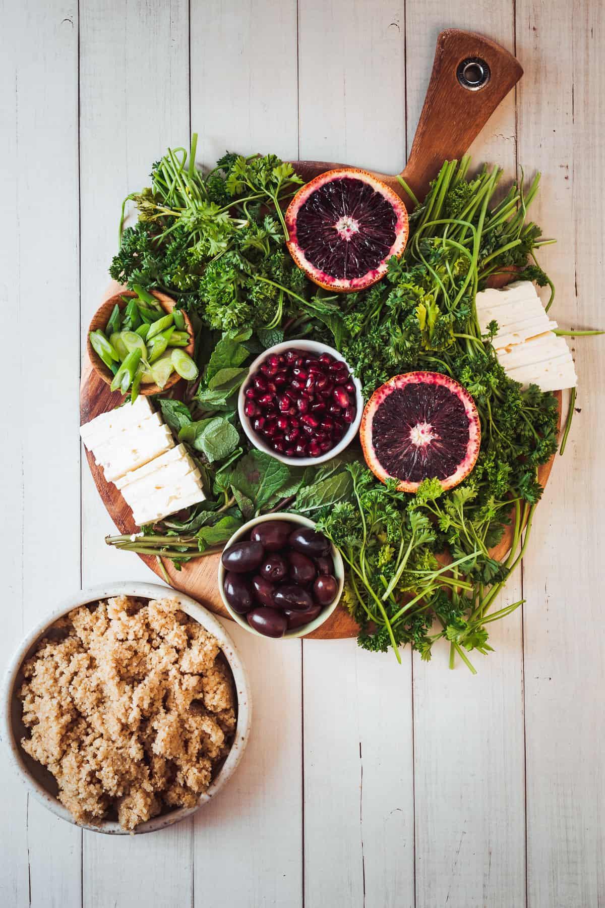 bulgur salad ingredients