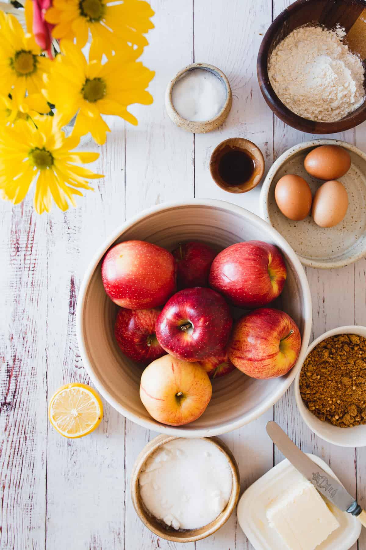 ingredients for gluten free sharlotka