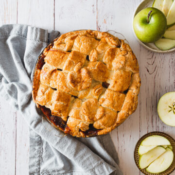 Incredible low carb gluten free apple pie with a lattice pie top