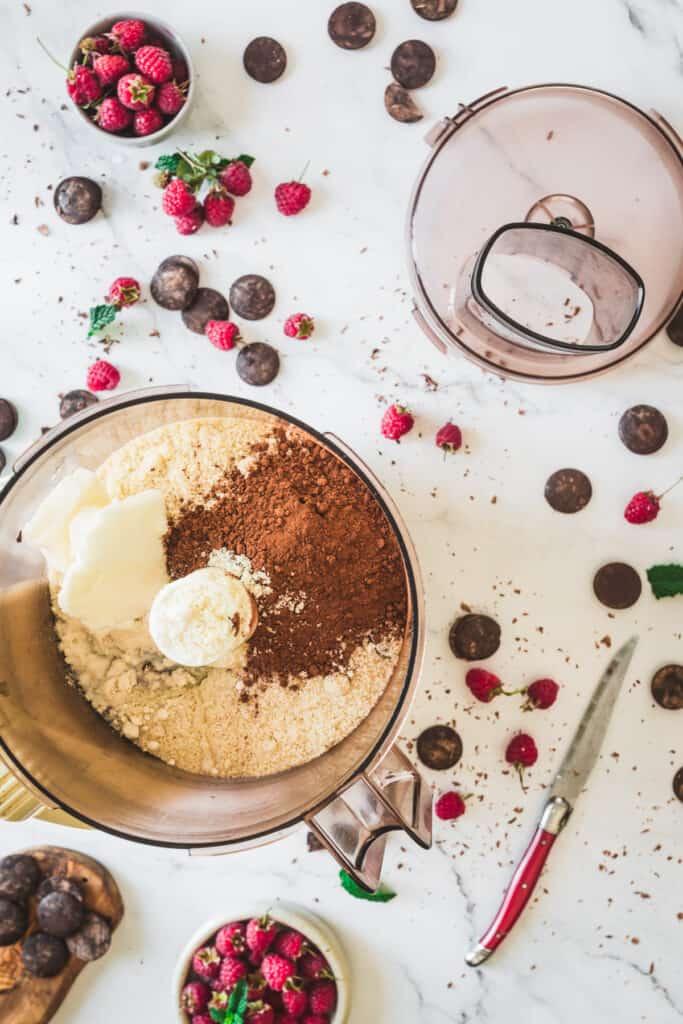 gluten free chocolate tart crust ingredients in food processor