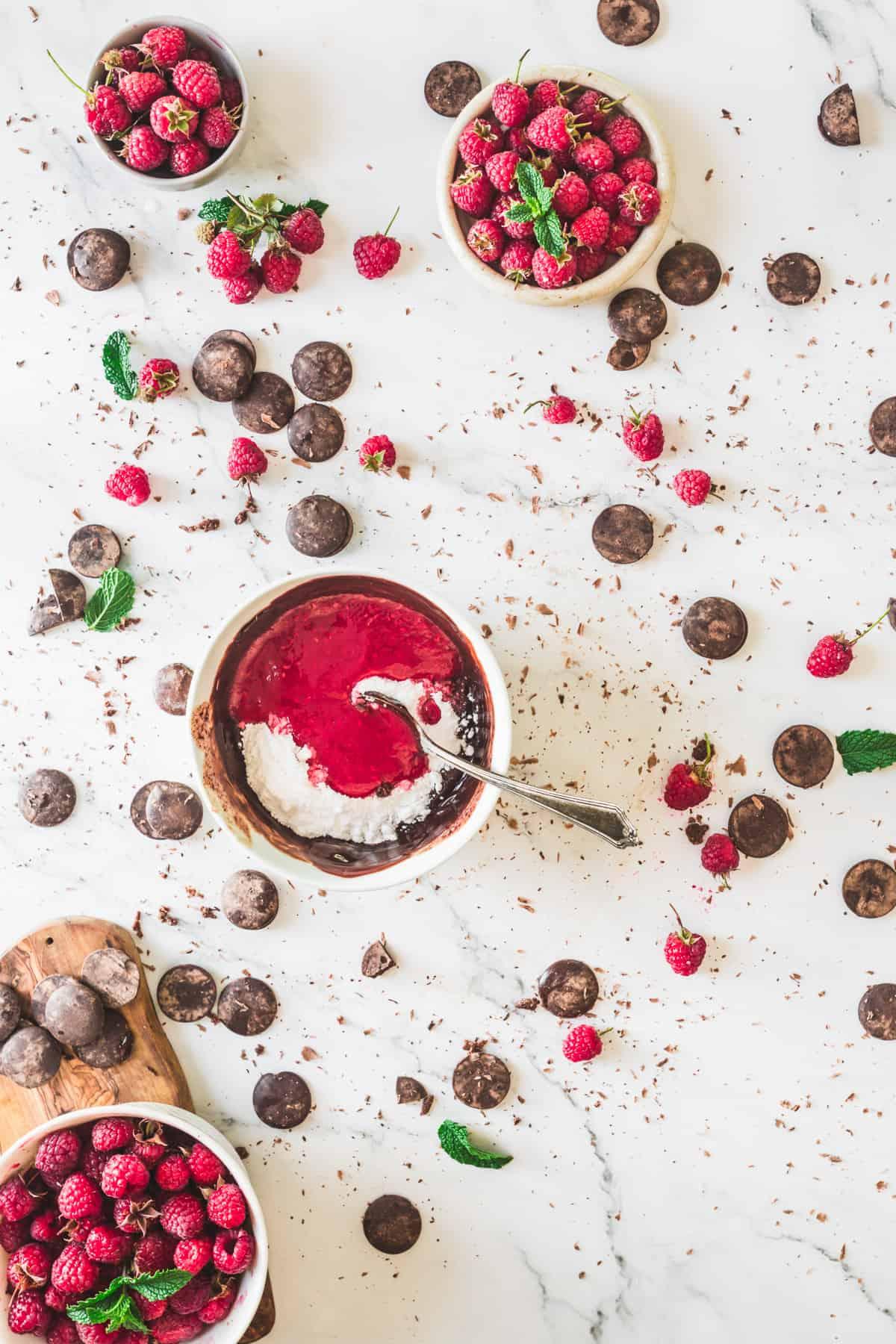 chocolate raspberry tart filling