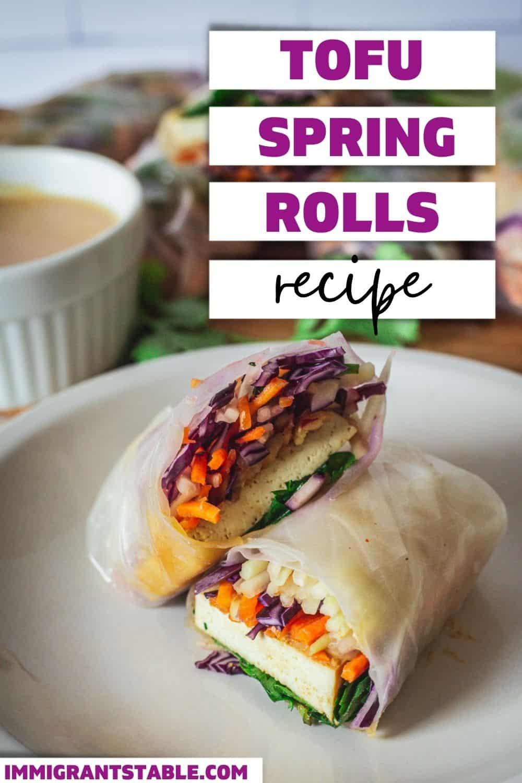 Tofu spring rolls recipe