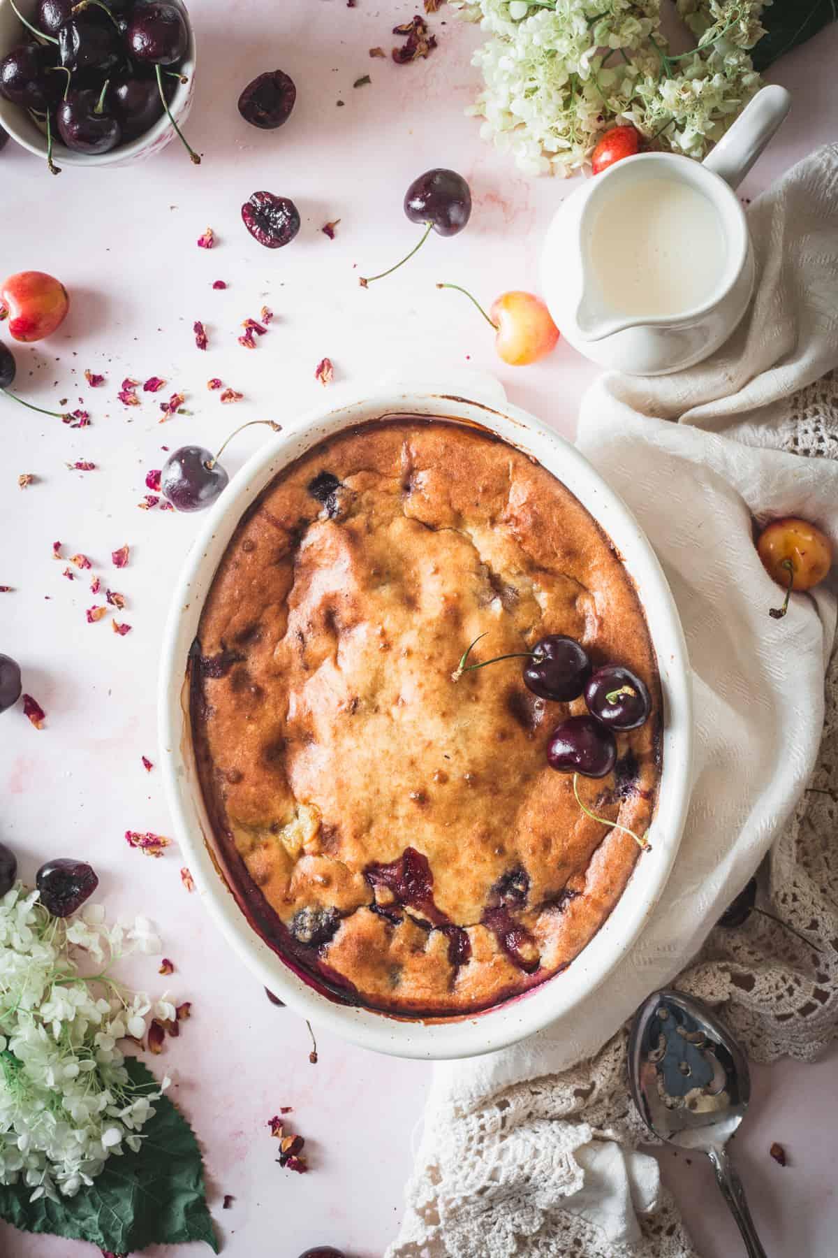 gluten free almond cherry cake