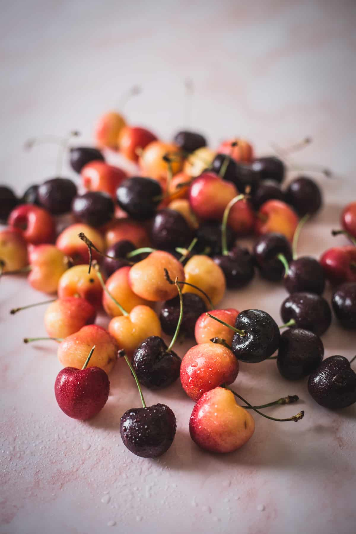 cherries of two colors