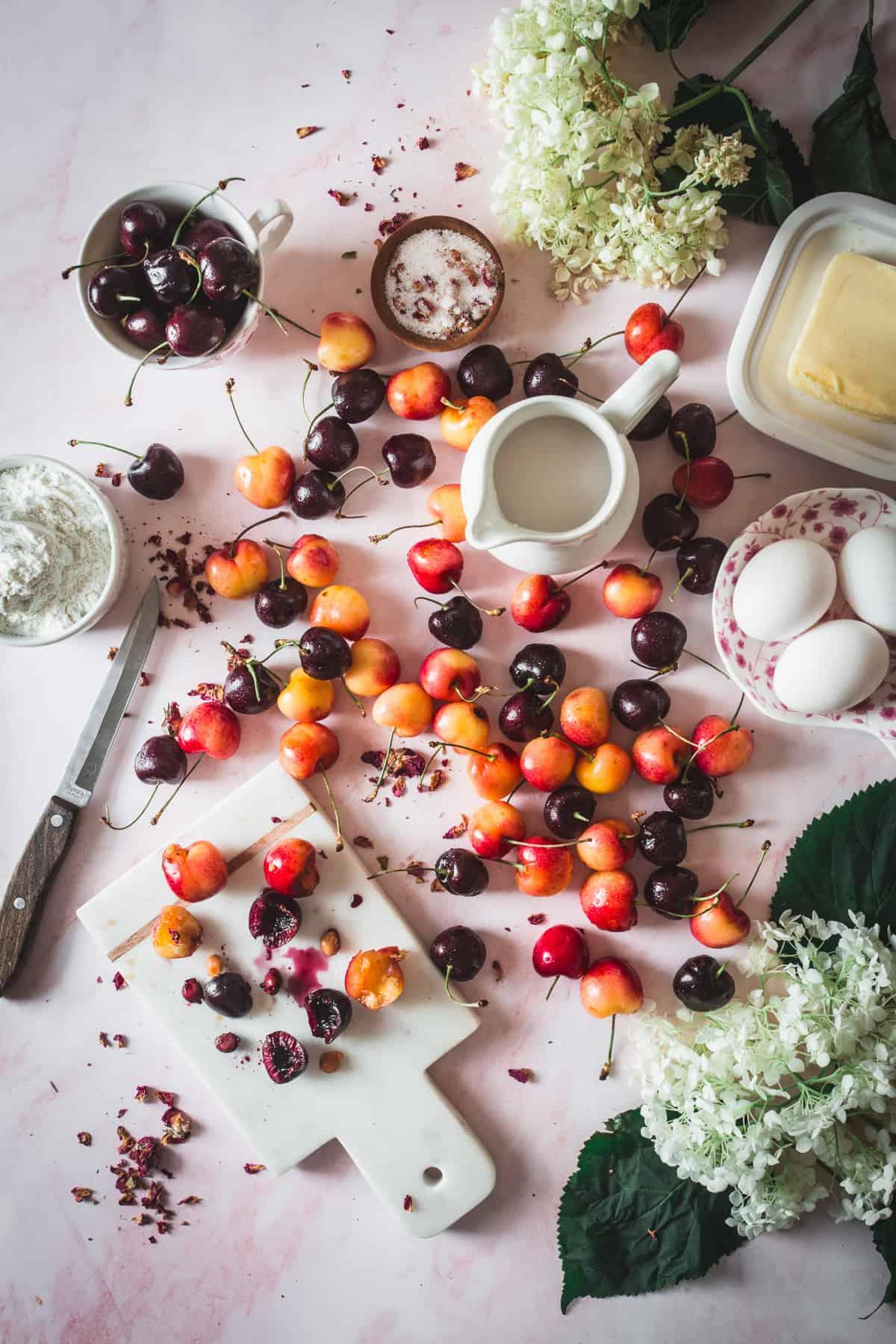 cherries and ingredients