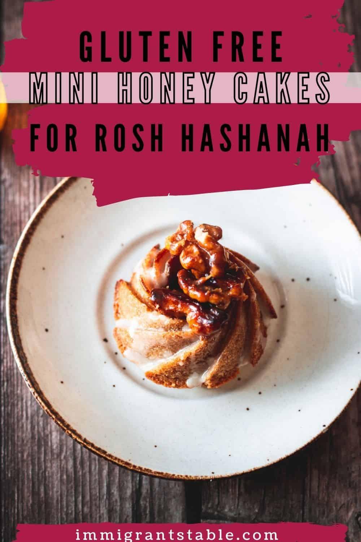 gluten free mini honey cakes for rosh hashana
