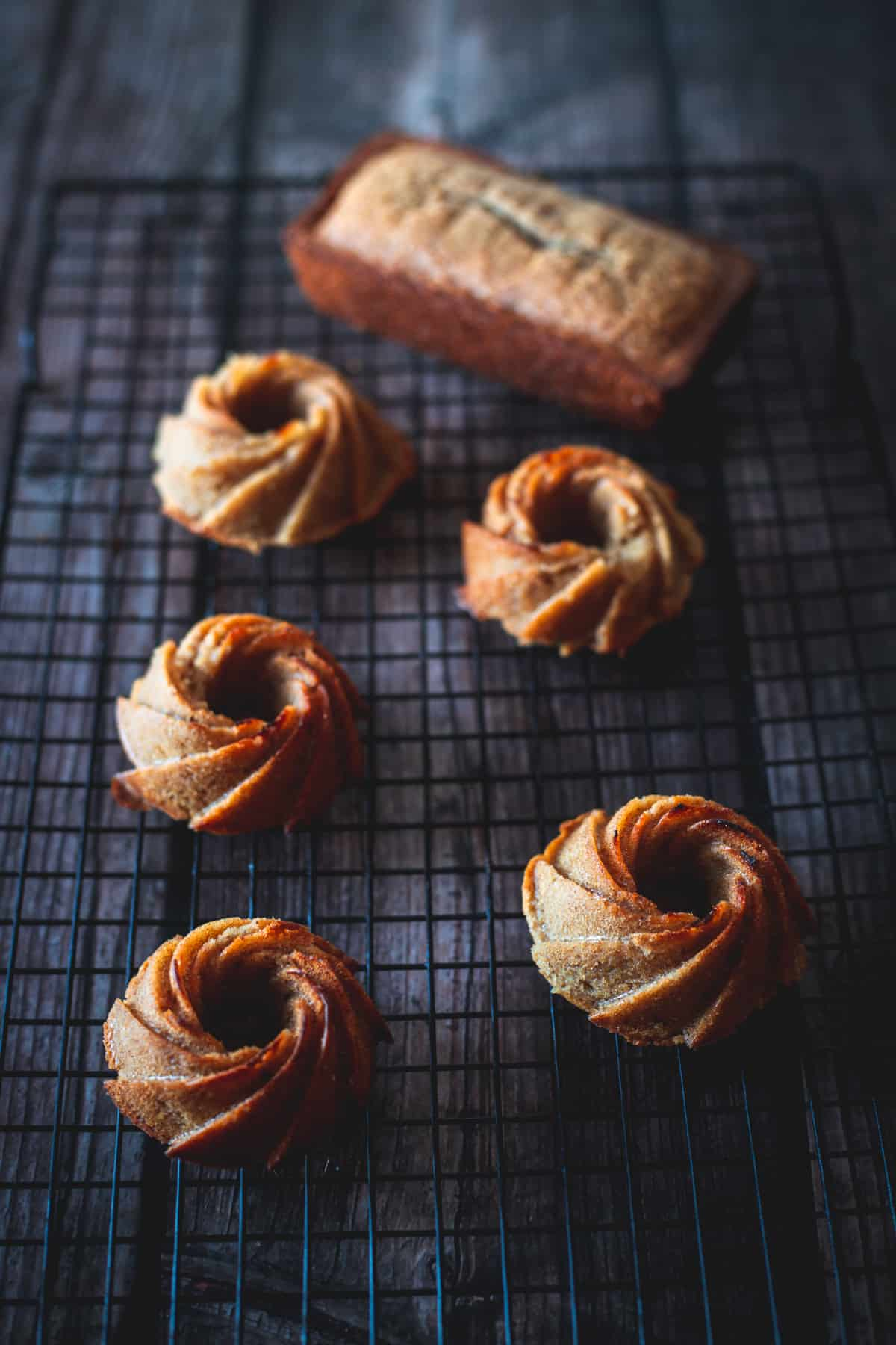 mini gluten free honey cakes